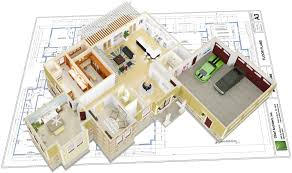 Chief Architect Interior Software for Professional Interior Designers D floor overview on top of construction documents