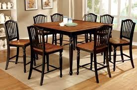 oak counter height dining sets