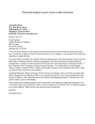 junior financial analyst cover letter   financial analyst cover    financial analyst cover letter example
