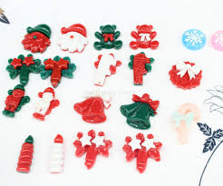 <b>200Pcs Mixed Christmas</b> Series Resin Flatback Scrapbook ...