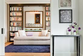 modern sofa sleeper home office modern with accent lighting beige sofa blue modern home office