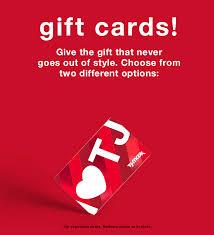 Gift Cards - T.J.Maxx