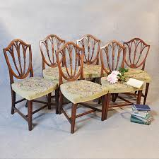 hepplewhite shield dining chairs set: antique set  six victorian hepplewhite dining chairs english shield back c