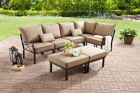 Mainstays Sandhill <b>7</b>-<b>Piece Outdoor</b> Patio Sofa Sectional Set, Beige ...
