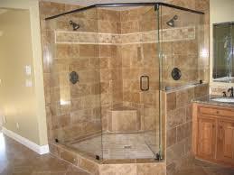 corner walk shower