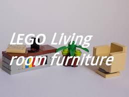Lego Furniture Lego Living Room Furniture Tutorial Youtube