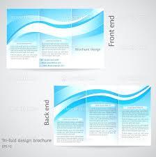 blank brochure template example xianning blank brochure template example tri fold brochure design template blue an stock vector
