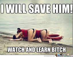 Amateur Lifeguard... by kkarafoulidis - Meme Center via Relatably.com