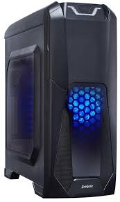 <b>Корпус Miditower</b> ExeGate EVO-8201 Black-Blue light EX270566RUS