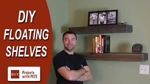 how to make floating shelves diy wood floating shelves youtube build floating shelves