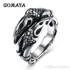 <b>GOMAYA</b> Stainless Steel Snake <b>Rings</b> Retro Style Vintage Biker ...