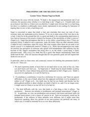 essay on hume   suicide permissible or morally unjustified   pages nageldeath