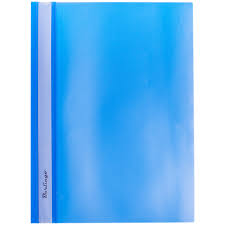 <b>Папка</b>-<b>скоросшиватель</b> пластик. <b>Berlingo</b>, А4, 180мкм, синяя с ...