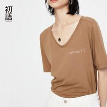 female <b>v neck</b> tee