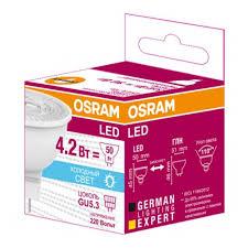 Светодиодная <b>лампа OSRAM LS</b> MR1650110 4,2W/850 220-240V ...