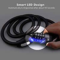 UNIAI <b>Bike Lock</b> Led Light, <b>1.5m</b>/59in <b>Bike Lock Cable</b> Security ...
