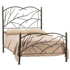 twig wrought iron bed frame in oil rubber bronze finished having headboard and footboard with wesley bedroom endearing rod iron