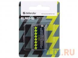 <b>Батарейка Defender</b> 6LR61-1B 56042 1 шт — купить по лучшей ...