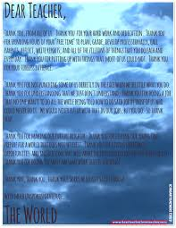 thank you letter dear teacher love teacher c dearteacherlt2013 you use the image if you link back to the