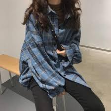 <b>Plaid</b> Woollen Lumberjack Shirt - Cosmique Studio | Aesthetic <b>Clothing</b>