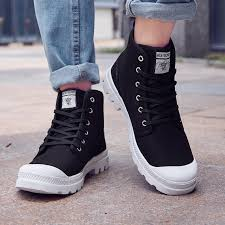 <b>men's canvas shoes autumn</b> high-top boots | Shopee Philippines