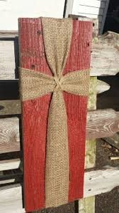 wood sign glass decor wooden kitchen wall: barn siding with burlap and twine cross wall plaque reclaimed rustic wood sign