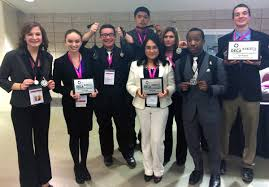ihcc students advance to collegiate deca icdc inver hills news left to right sarah burke aubrie riste nathan shine bryan cervantes