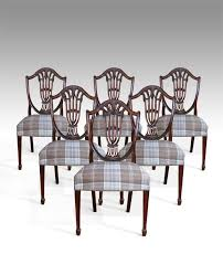 hepplewhite shield dining chairs set: set of  hepplewhite dining chairs