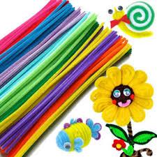 <b>100 Pcs Colorful Chenille</b> Materials Wool Stick Kids <b>DIY</b> Montessori ...