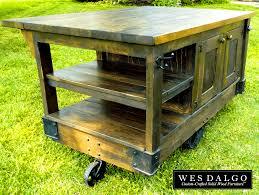 rustic kitchen island:  sweet distressed dark wood modern rustic kitchen island cart west elm for full size