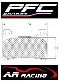 Performance Friction Race Brake Pads 95 Comp <b>Honda</b> ...