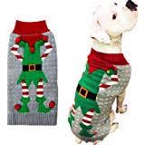 BOBIBI <b>Dog</b> Sweater for Christmas <b>Cartoon</b> Reindeer <b>Pet</b> Cat <b>Winter</b>