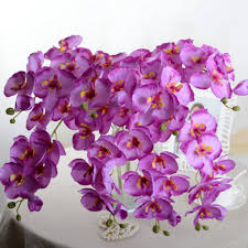 day orchid decor: fashion orchid artificial flowers diy artificial butterfly orchid silk flower bouquet phalaenopsis wedding home decoration f