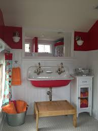 bathroom refresh: such an adorable bathroom remodel love the big sink for all the kids and