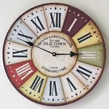 Classic Pastoral <b>Wooden Wall</b> Clocks Decorative <b>Wall</b> Hanging ...