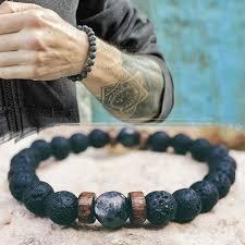 <b>Men Bracelet Natural Moonstone</b> Bead Tibetan Buddha Bracelet ...