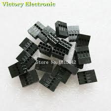 <b>50PCS</b>/Lot Double 2*4P <b>8P 2.54mm 2x4P</b> 2*4P Plastic Dupont ...