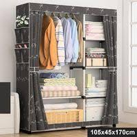 <b>Corner Wardrobe 130x87x169</b> cm Grey -