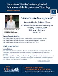 acute stroke management seminar tuesday at pm dr chrisina wilson baw 11 flyer