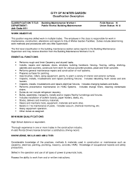 building maintenance engineer resume cipanewsletter building maintenance resume getessay biz