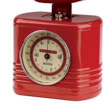 Red Retro Kitchen Accessories Typhoon Vintage Kitchen Scales In Red Kitchen Accessories