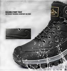 Snow Boots <b>Mens</b> Warm Winter Boots <b>Waterproof Non</b>-<b>Slip</b> Outdoor ...
