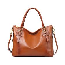 Kattee <b>Women's Genuine</b> Leather <b>Handbags Shoulder Tote</b> ...