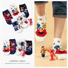 【<b>HOT NEW</b>】<b>1Pair</b> Korea Fashion Elmo Socks Cotton Socks <b>Women</b> ...