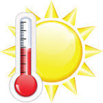 Image result for clipart hot weather