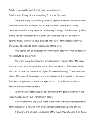essay topics for frankenstein essay topics for frankenstein calamatildecopyo frankenstein essay some interesting topics for discussion
