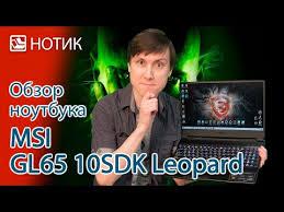 Подробный обзор <b>ноутбука MSI GL65</b> 10SDK-229RU <b>Leopard</b> ...