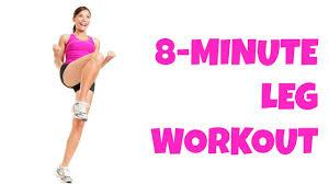 <b>8</b> Minute Legs -- At Home <b>Lower Body</b> Workout No Equipment Thigh ...