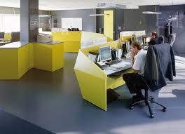 cool gray office furniture creative. office interior designs with color block theme yellow desk grey floor black wall wide windows cool gray furniture creative m