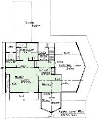 C Upper Floor Plan Design From Creative House PlansC  Chalet Style House Plan Upper Floor